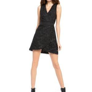 Alice Olivia Black Lace Lennon Mini Dress 12